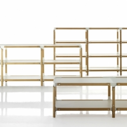 STEELWOOD SHELVING SYSTEM 2 trays 1 module - Shelving - Designer Furniture - Silvera Uk