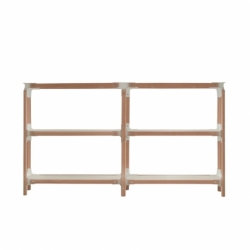 STEELWOOD SHELVING SYSTEM 3 trays 2 modules - Shelving - Designer Furniture -  Silvera Uk