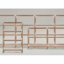 STEELWOOD SHELVING SYSTEM 3 trays 2 modules - Shelving - Designer Furniture - Silvera Uk