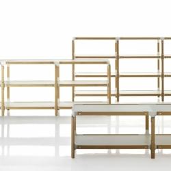 STEELWOOD SHELVING SYSTEM 4 trays 1 module - Shelving - Designer Furniture - Silvera Uk