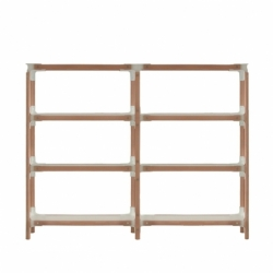 STEELWOOD SHELVING SYSTEM 4 trays 2 modules - Shelving - Designer Furniture - Silvera Uk