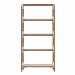 STEELWOOD SHELVING SYSTEM 5 trays 1 module - Shelving - Designer Furniture -  Silvera Uk