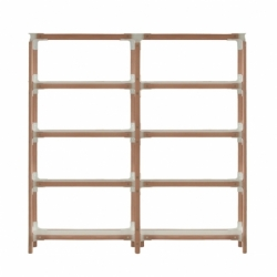 STEELWOOD SHELVING SYSTEM 5 trays 2 modules - Shelving - Designer Furniture -  Silvera Uk