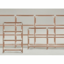 STEELWOOD SHELVING SYSTEM 5 trays 2 modules - Shelving - Designer Furniture - Silvera Uk