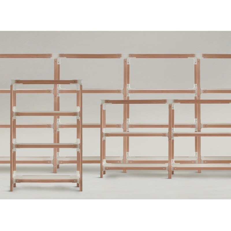 STEELWOOD SHELVING SYSTEM 5 plateaux 2 modules