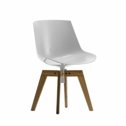 FLOW wooden base - Dining Chair -  -  Silvera Uk