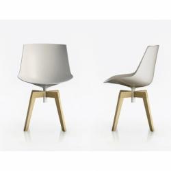 FLOW wooden base - Dining Chair - Designer Furniture - Silvera Uk
