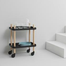 BLOCK TABLE - Trolley - Designer Furniture - Silvera Uk