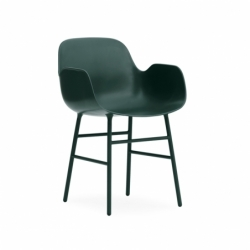 FORM ARMCHAIR steel legs - Dining Armchair - Themes -  Silvera Uk
