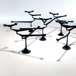 SPIN TABLE Candelabra - Candle Holder, Candlestick and Candle - Accessories - Silvera Uk