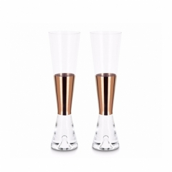 TANK pair champagne glasses - Glassware - Accessories -  Silvera Uk