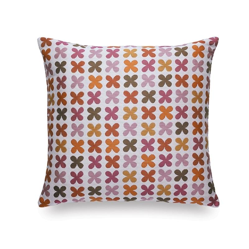 MAHARAM QUATREFOIL PINK Cushion - Cushion - Accessories - Silvera Uk