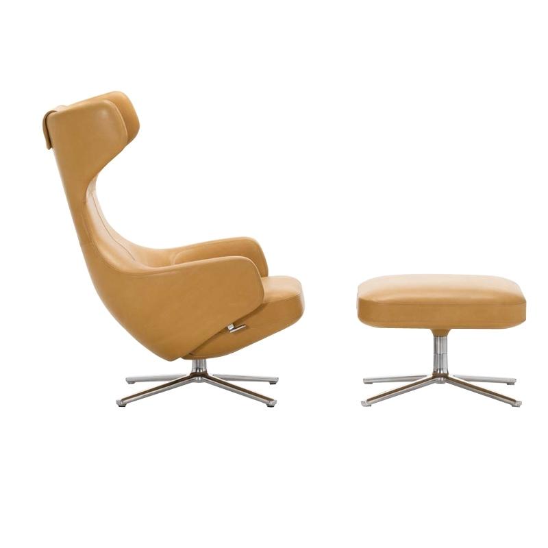 GRAND REPOS & OTTOMAN Leather - Easy chair - Designer Furniture - Silvera Uk