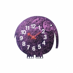 ZOO TIMER Elihu the Elephant Clock - Clock - Accessories -  Silvera Uk