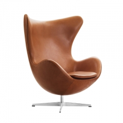 OEUF (EGG) Leather - Easy chair - Designer Furniture -  Silvera Uk