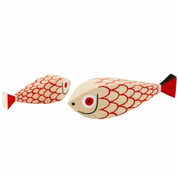 WOODEN DOLL Mother Fish & Child - Unusual & Decorative Objects - Accessories - Silvera Uk