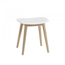 FIBER STOOL wooden legs - Stool -  -  Silvera Uk