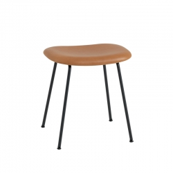 FIBER STOOL Steel legs leather seat - Stool - Designer Furniture -  Silvera Uk