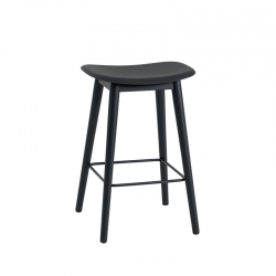 FIBER BAR STOOL wooden legs H65 - Bar Stool -  -  Silvera Uk