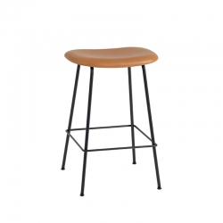 FIBER BAR STOOL Steel legs leather seat H65 - Bar Stool - Designer Furniture -  Silvera Uk