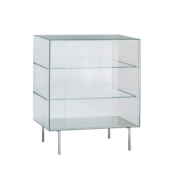 COMMODORE High striped glass - Storage Unit - Designer Furniture -  Silvera Uk