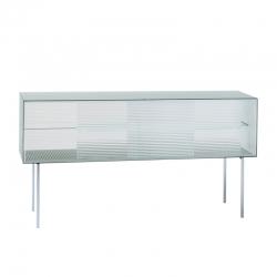 COMMODORE Low chequered glass - Storage Unit - Designer Furniture -  Silvera Uk