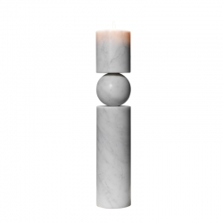 FULCRUM MARBRE Large Candlestick - Candle Holder, Candlestick and Candle - Accessories -  Silvera Uk