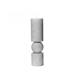 FULCRUM MARBRE Small Candlestick - Candle Holder, Candlestick and Candle - Accessories -  Silvera Uk