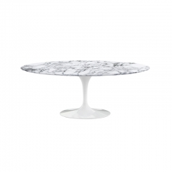 SAARINEN Oval marble Arabescato - Dining Table - Designer Furniture -  Silvera Uk