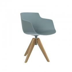 FLOW SLIM COLOR foot VN wood - Dining Armchair - Designer Furniture -  Silvera Uk