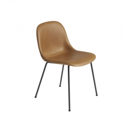 FIBER CHAIR 4 steel legs leather shell - Dining Chair -  -  Silvera Uk