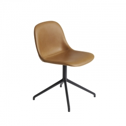 FIBER CHAIR central leg leather shell - Dining Chair -  -  Silvera Uk