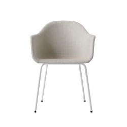 HARBOUR Fabric shell/ Steel legs - Dining Armchair - Designer Furniture -  Silvera Uk