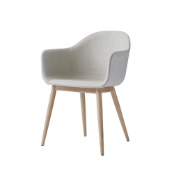 HARBOUR Fabric shell/ wooden legs - Dining Armchair - Designer Furniture -  Silvera Uk