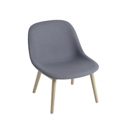 FIBER LOUNGE Fabric shell/ wooden legs - Easy chair -  -  Silvera Uk