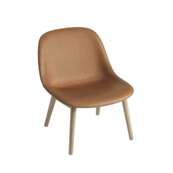 FIBER LOUNGE Leather shell/ wooden legs - Easy chair -  -  Silvera Uk