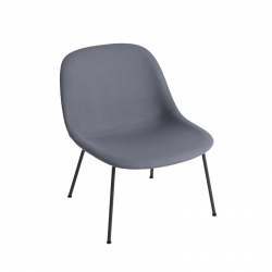 FIBER LOUNGE Fabric shell/ steel legs - Easy chair -  -  Silvera Uk