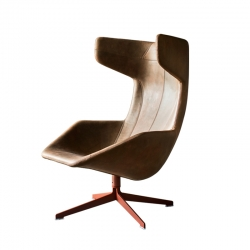 TAKE A LINE FOR A WALK leather - Easy chair -  -  Silvera Uk