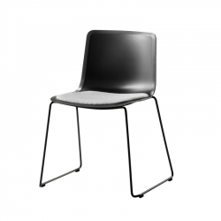 PATO sled base/ padded seat - Dining Chair - Designer Furniture -  Silvera Uk