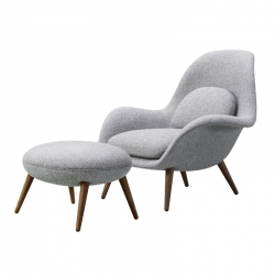 SWOON LOUNGE & OTTOMAN - Easy chair - Designer Furniture -  Silvera Uk