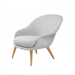 BAT LOUNGE WOOD low backrest - Easy chair - Showrooms -  Silvera Uk