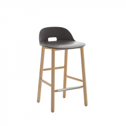 ALFI STOOL low backrest - Bar Stool - Designer Furniture -  Silvera Uk