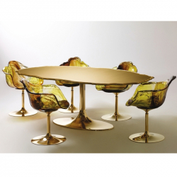 ELLA GOLD - Dining Armchair - Designer Furniture - Silvera Uk