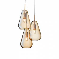 ANOLI 3 GOLD - Pendant Light - Designer Lighting -  Silvera Uk