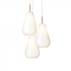 ANOLI 3 OPAL - Pendant Light - Designer Lighting -  Silvera Uk