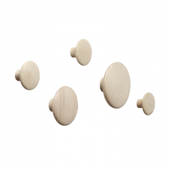 DOTS Set of 5 Hooks - Coat Rack - Themes -  Silvera Uk