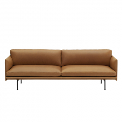 OUTLINE 3 seater leather - Sofa - Themes -  Silvera Uk
