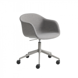 FIBER ARMCHAIR with castors - Office Chair -  -  Silvera Uk