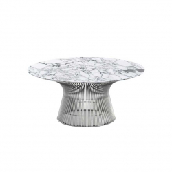 PLATNER Ø 91,5 Marble - Coffee Table -  -  Silvera Uk