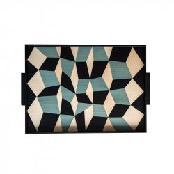 TARSIA Tricolore Tray - Tray, Dish - Accessories -  Silvera Uk